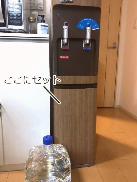水ボトルのセット位置